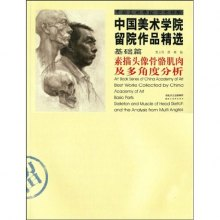 中国美术学院留院作品精选 基础篇素描头像骨骼肌肉及多角