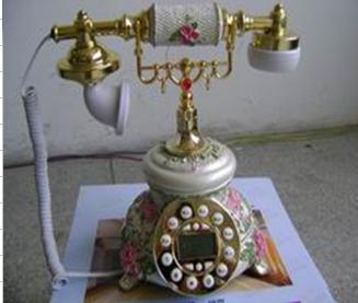花团锦簇手绘 彩绘复古电话机
