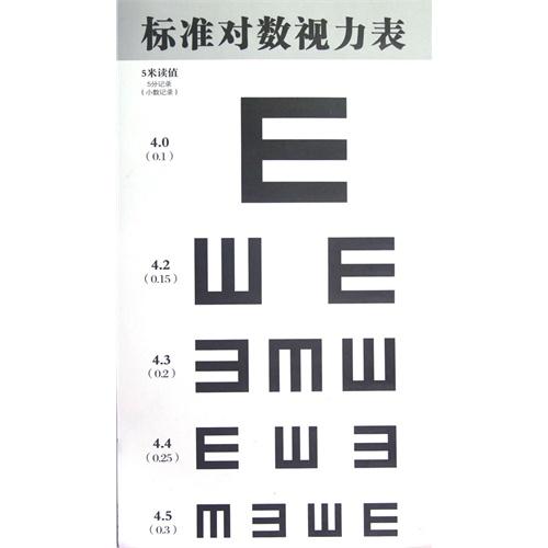 《标准对数视力表》,9787535766526(湖南省儿童眼视光